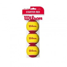 Wilson 3`lü Starter Easy Kırmızı Tenis Topu 8Yaş ITF Onaylı