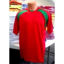 Kırmızı-Yeşil Hazır Halı Saha Forması Tek Üst 6 Adet
