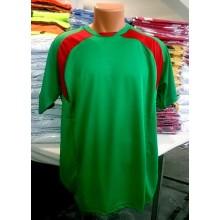 Yeşil-Kırmızı Hazır Halı Saha Forması Tek Üst 6 Adet